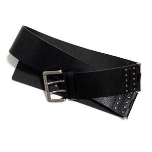 Michael Kors Wide Genuine Leather Hinge Belt